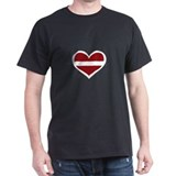 Latvia Love Latvian heart T-Shirt