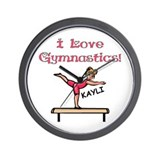 I Love Gymnastics (Kayli) Wall Clock