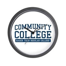 community college. it's easier! Wall Clock