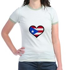 Puerto Rico Love Heart T