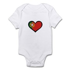 Portugal Love Portuguese Hear Infant Bodysuit