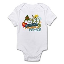 Imagine Peace Abtract Art Infant Bodysuit