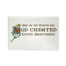 God Created Shorthairs Rectangle Magnet (100 pack)