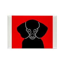 Poodle (Black) Rectangle Magnet