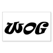 Wog Rectangle Decal
