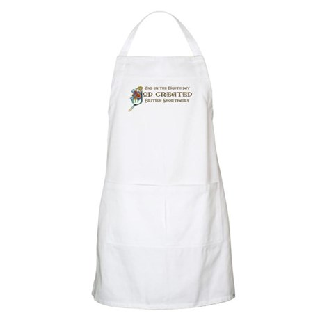 God Created Shorthairs BBQ Apron