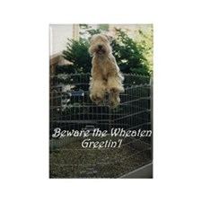 Beware the Wheaten Greetin' Rectangle Magnet (10 p