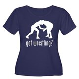 Wrestling 4 Women's Plus Size Scoop Neck Dark T-Sh