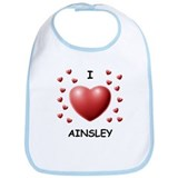 I Love Ainsley - Bib