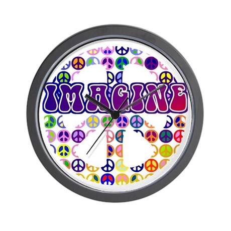 Imagine Peace Anti-war Art Wall Clock