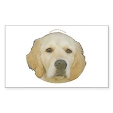 Golden Retriever Rectangle Decal