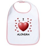 I Love Alondra - Bib