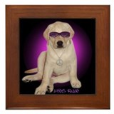 Labs Rule Dog Gift Framed Tile