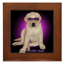 Labs Rule Dog Gift Framed Tile