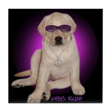 Labs Rule Dog Gift Tile Coaster