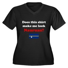 Make Me Look Nauruan Women's Plus Size V-Neck Dark
