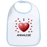I Love Annalise - Bib