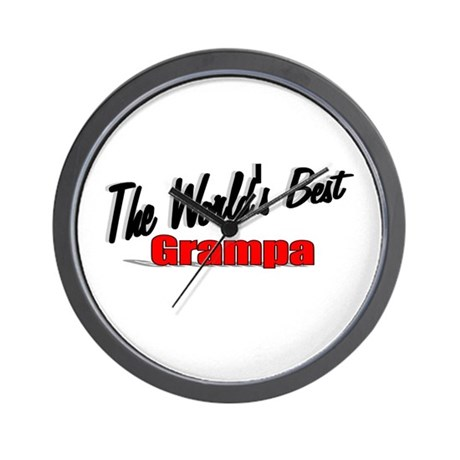 """The World's Best Grampa"" Wall Clock"