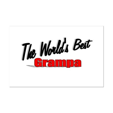 """The World's Best Grampa"" Mini Poster Print"