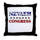 NEVAEH for congress Throw Pillow