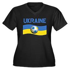 TEAM UKRAINE WORLD CUP Women's Plus Size V-Neck Da
