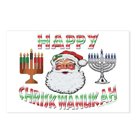 HAPPY CHRISKWANUKAH Postcards (Package of 8)