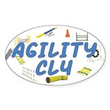 CL4 Agility Title Oval Decal
