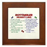 Rottweiler Property Laws 2 Framed Tile