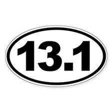 13.1 Half Marathon Oval Euro Decal