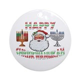 HAPPY CHRISKWANUKAH Ornament (Round)