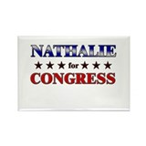 NATHALIE for congress Rectangle Magnet