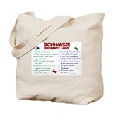 Schnauzer Property Laws 2 Tote Bag