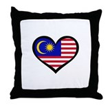 Malaysia Love Throw Pillow