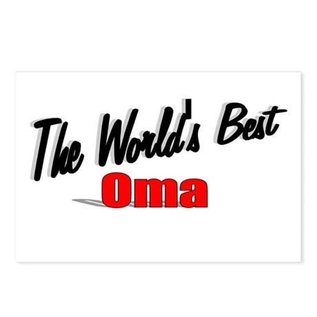 """The World's Best Oma"" Postcards (Package of 8)"
