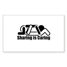 Sharing is Caring Rectangle Bumper Stickers