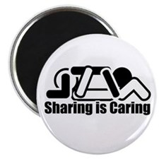 "Sharing is Caring 2.25"" Magnet (100 pack)"
