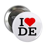 I Love Delaware - Button