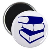 "Stack Of Blue Books 2.25"" Magnet (10 pack)"