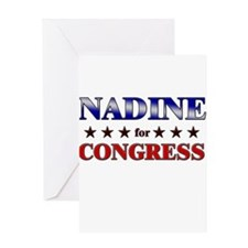 NADINE for congress Greeting Card