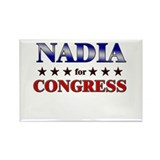 NADIA for congress Rectangle Magnet