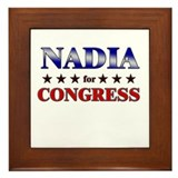NADIA for congress Framed Tile