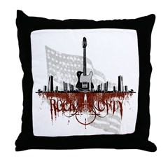 Rock City 2 Throw Pillow