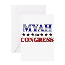 MYAH for congress Greeting Card