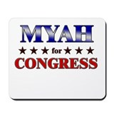 MYAH for congress Mousepad