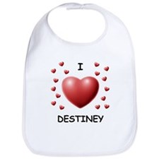 I Love Destiney - Bib