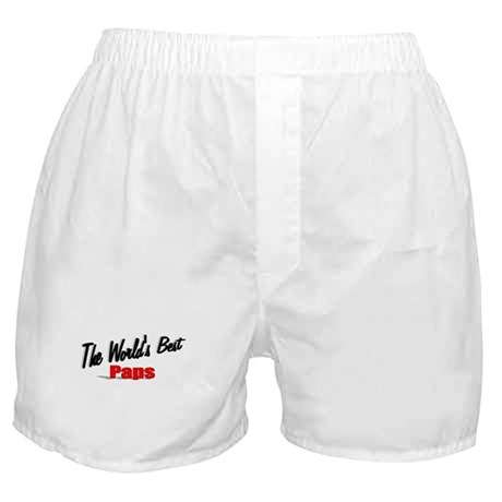 """The World's Best Paps"" Boxer Shorts"