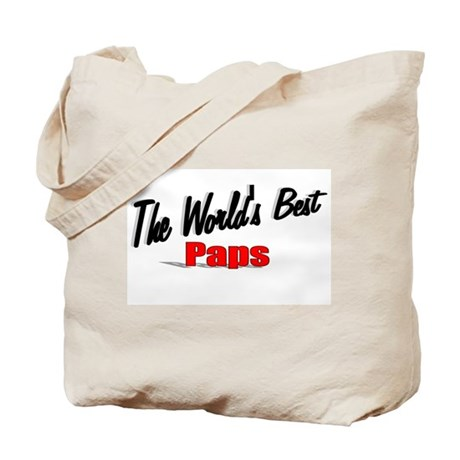 """The World's Best Paps"" Tote Bag"