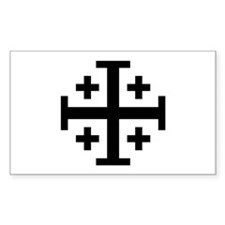 Crusaders Cross (Black) Rectangle Decal