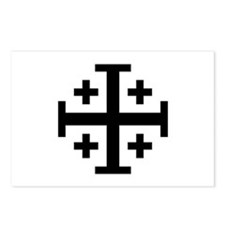 Crusaders Cross (Black) Postcards (Package of 8)
