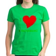 I Love Christmas Heart Tee